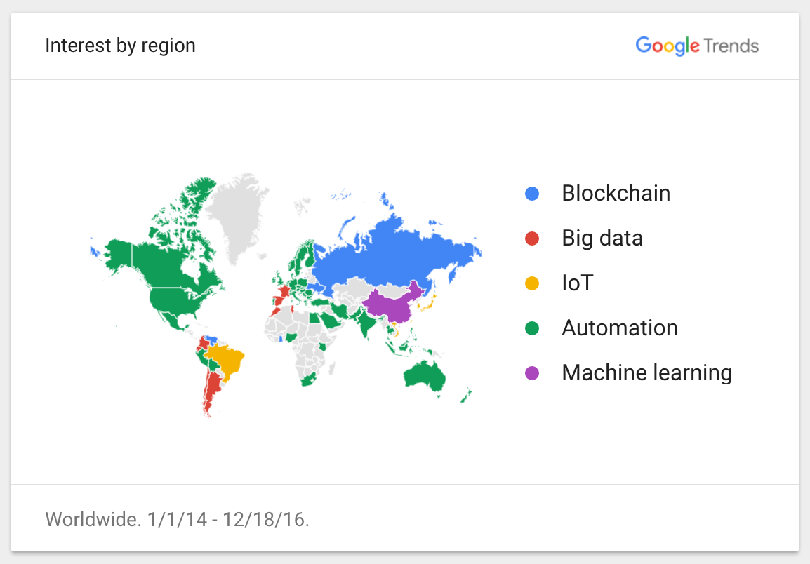 Google Trends - Interest by region